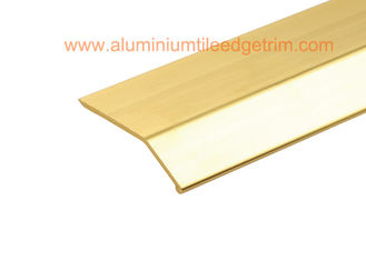 Matt Silver Carpet Metal Cover Strip / Edge Strips For Different High Floor