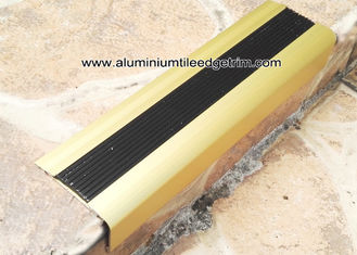 TL30 Matt Gold Non Slip Aluminum Stair Splint With Rubber For Staircase Edge